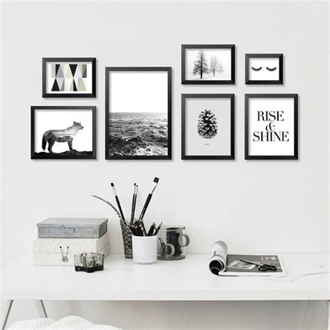 Modern Black White Minimalist Art Canvas Print, Abstract