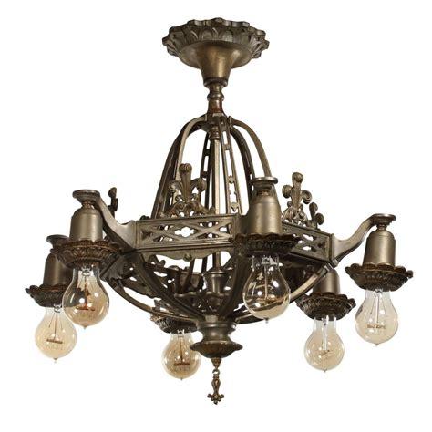 fantastic antique tudor semi flush mount chandelier fleur