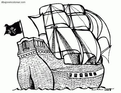 Imagenes De Barcos Sin Pintar by Dibujos Sin Colorear Dibujos De Barcos Pirata Para