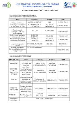 cap cuisine programme cuisine restaurant organisation pdf notice manuel d