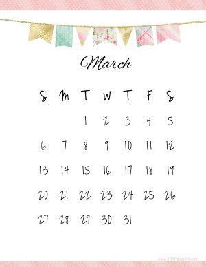 printable march calendar customize