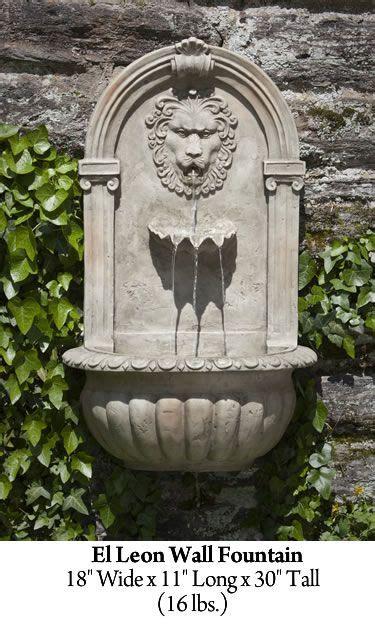 lion stone wall fountain wall fountain small backyard