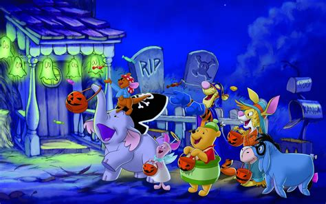 Halloween Wallpaper Winnie The Pooh Trick Or Treating