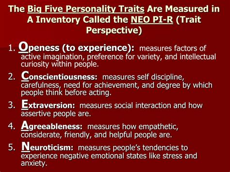 personality   trait humanistic  social