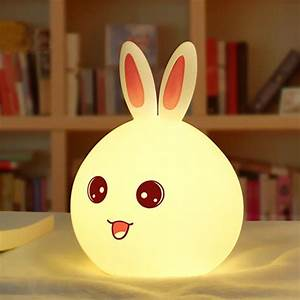 Aliexpress, Com, Buy, New, Rabbit, Led, Night, Light, For, Children, Baby, Kids, Bedside, Lamp, Multicolor