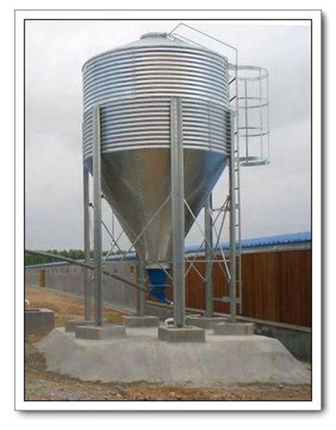 china galvanized feed silo for poultry feeding equipment china galvanized silo feed silo galvanized feed silo for poultry farm equipment from china manufacturer manufactory factory