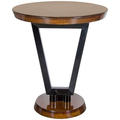 art deco side table art deco streamlined occasional or side table in black