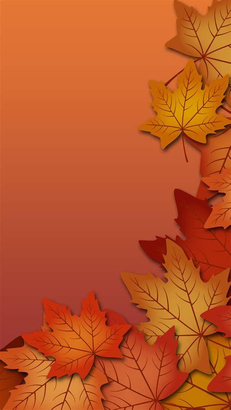 Orange Leaf Wallpaper by Maple Autumn Orange Fall Season Yellow Leaf Background
