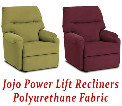 jojo power lift recliner in polyurethane