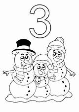 Coloring Snowman Pages Abominable Christmas Snowmen Three Cute Drawing Number Night Elmo Printable Template Getdrawings Sky Merry Getcolorings sketch template