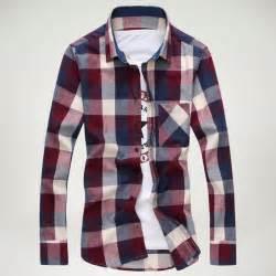 Plaid Breast Pocket Turn-down Collar Long Sleeve Shirt