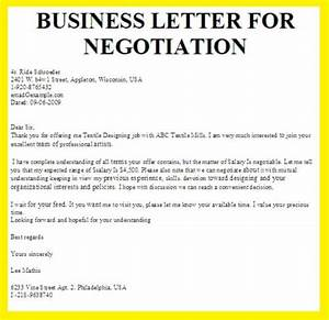 Business letter for negotiation business letter examples for Negotiation contract template