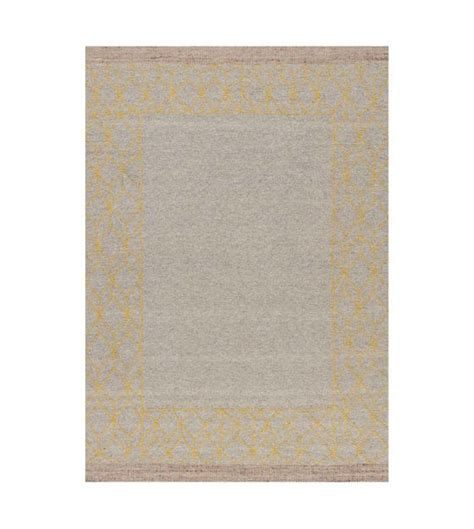 vloerkleed geel beige lef collections vloerkleed mantua beige geel wol acryl in