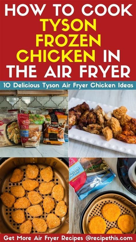 chicken frozen fryer air tyson cook recipethis wings cooking recipes