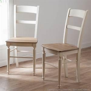 chaise de cuisine en bois With deco cuisine avec chaises blanches bois