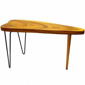 free form organic small coffee or cocktail table koa wood With koa wood coffee table
