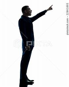 business man standing silhouette isolated - Stock Photo ...