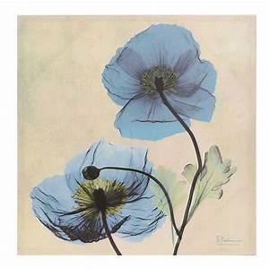 Turquoise X-ray Floral II Canvas Art Print Kirklands