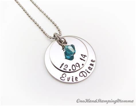 Hand Stamped Jewelry Personalized Necklace Personalized