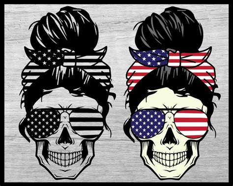 Browse our girly skull images, graphics, and designs from +79.322 free vectors graphics. American Flag Skull svg Messy bun skull svg Mom life SVG ...