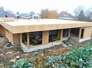 Maison Ossature Bois Toit Plat : maison ossature bois plain pied toit plat bricolage maison et d coration ~ Melissatoandfro.com Idées de Décoration
