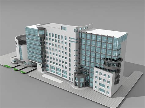 Office Building Design 3d Model 3ds Max Files Free