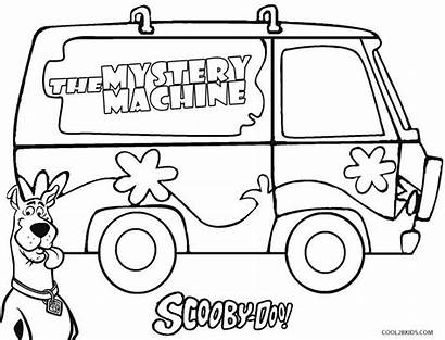 Scooby Doo Coloring Pages Mystery Machine Printable