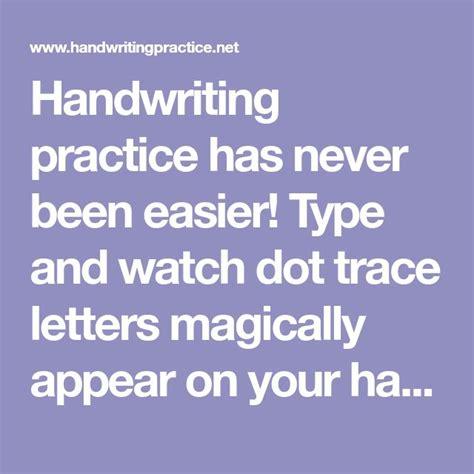 handwriting practice    easier type