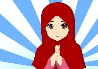 KUMPULAN Gambar Animasi Muslimah Bergerak Kartun Animasi