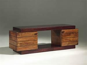 meuble de salon en bois exotique mzaolcom With meuble t