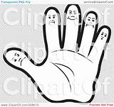 Finger Outline Hand Coloring Faces Illustration Clipart Middle Royalty Five Rf Template Pages Transparent Background Furry Lal Perera Regarding Body sketch template