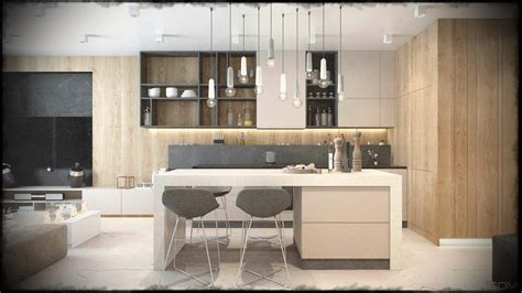 grey kitchen design ideas modern kitchen designs that use geometry grey and wood 4073