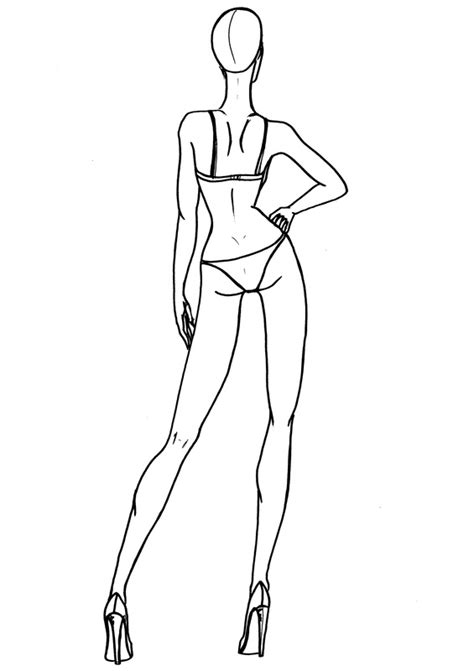Fashion Templates Front And Back by Fashion Sketch Templates Front And Back Sketch Coloring Page