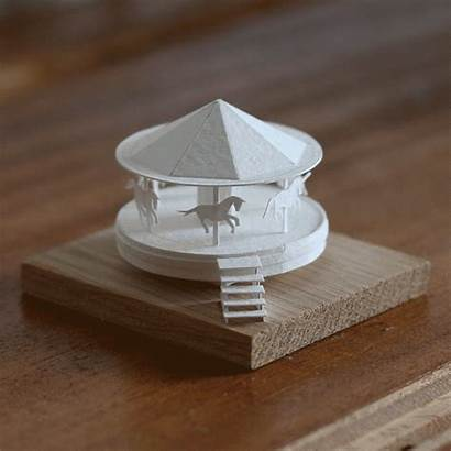 Round Paperholm Building Working Miniature Merry Moving