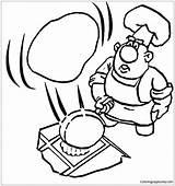 Pancake Coloring Pages Cooking Drawing Getdrawings Printable sketch template