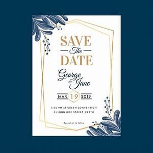Wedding Invitation Printable Templates Watercolor Geometric Floral Wedding Invitation Template