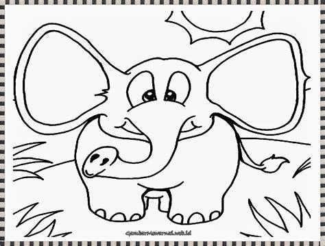 Coloring Gajah by Gambar Mewarnai Anak Gajah Yang Lucu Gambar Mewarnai