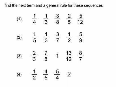 Fraction Sequences Term Nth Fractions Equivalent Subtraction