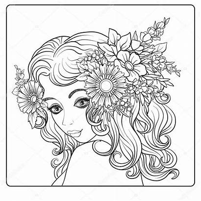 Corona Flores Mooi Head Wreath Flowers Cabeza