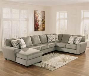 Ashley furniture patola park patina 4 piece sectional for Ashley furniture sectional sofa with chaise