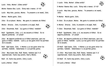 Spanish Greetings & Introductions Conversation To Put in ...