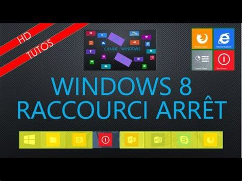 raccourci bureau windows 8 fr raccourci arrêt sur bureau de windows 8