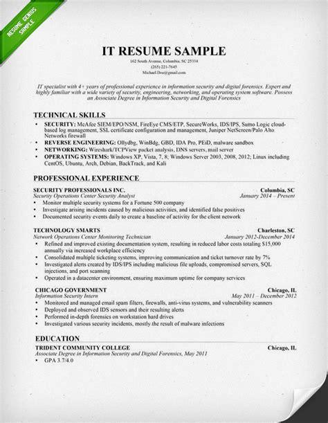 information technology  resume sample resume genius
