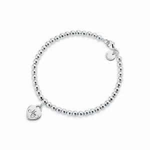Tiffany Hearts® Mom mini heart tag bead bracelet in ...