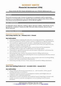 Sample Financial Controller Resume Financial Accountant Resume Samples Qwikresume