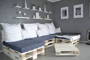 Bett Aus Holzpaletten : paletten sofa selber bauen wirklich so einfach ~ Michelbontemps.com Haus und Dekorationen