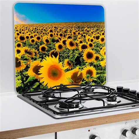 plaque protection murale cuisine protection murale en verre tournesol wenko protection plaques de cuisson crédence