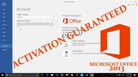 how to activate microsoft office 2013 without the product key for free youtube