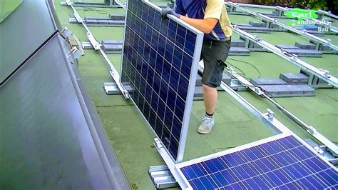 install home solar system  detail mount stands