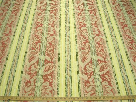 Brocade Upholstery Fabric by 5 3 Yd Stripe Brocade Upholstery Fabric R8604 Ebay
